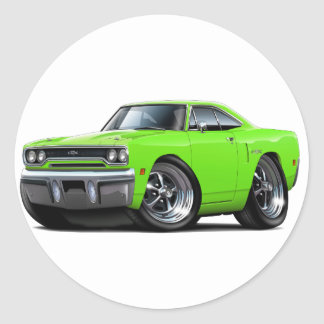 1970 Plymouth GTX Lime Car Classic Round Sticker