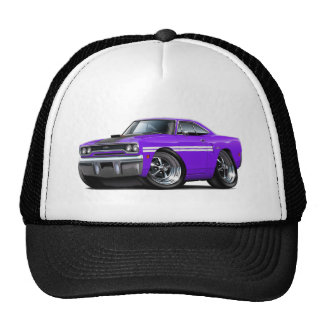 1970 Plymouth GTX Purple-White Car Cap