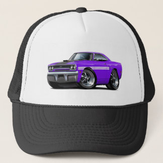 1970 Plymouth GTX Purple-White Car Trucker Hat