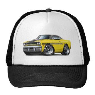 1970 Plymouth GTX Yellow-Black Top Car Cap