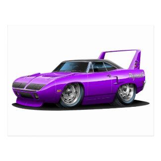 1970 Plymouth Superbird Purple Car Postcard