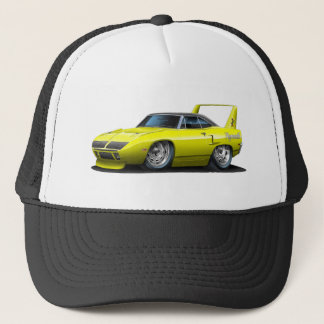 1970 Plymouth Superbird Yellow Car Trucker Hat