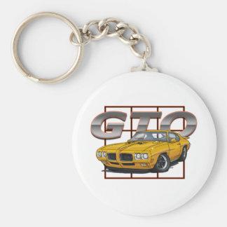 1970 Pontiac Lemans GTO Basic Round Button Key Ring