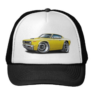 1970 Rebel Machine Yellow-Hood Scoop Cap