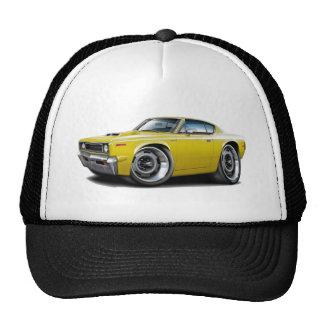 1970 Rebel Machine Yellow-Hood Scoop Cap
