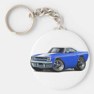 1970 Roadrunner Blue-White Top Basic Round Button Key Ring