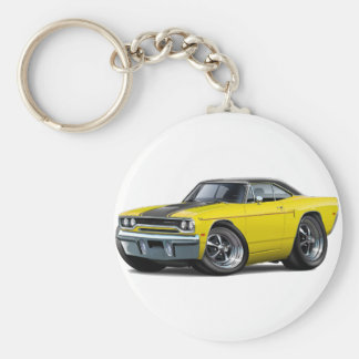 1970 Roadrunner Yellow-Black Stripe Key Ring