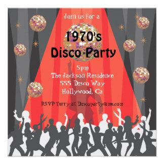 1970 s Disco Party Invitation