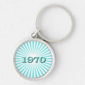 1970 Silver-Colored ROUND KEY RING