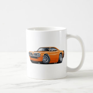1970 Super Bee Orange-Black Car Coffee Mug