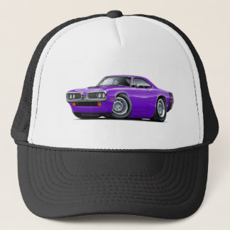 1970 Super Bee Purple-Black Car Trucker Hat