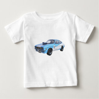1970's Blue and White Muscle Car Baby T-Shirt