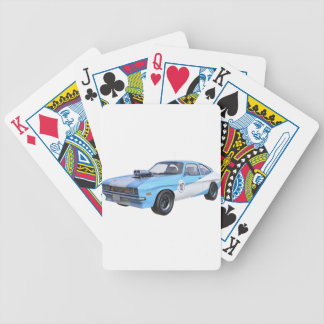 1970's Blue and White Muscle Car Bicycle Playing Cards