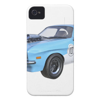 1970's Blue and White Muscle Car iPhone 4 Cases