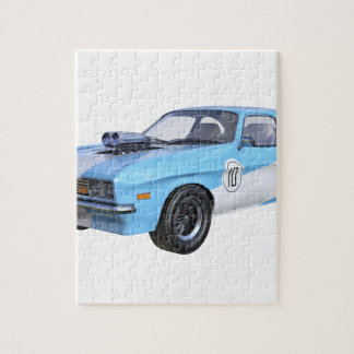1970's Blue and White Muscle Car Jigsaw Puzzle