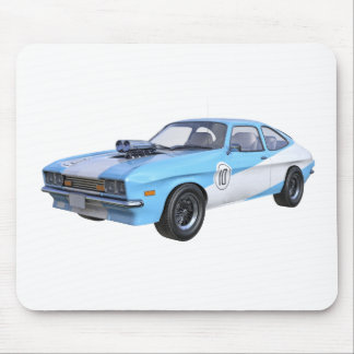 1970's Blue and White Muscle Car Mouse Pad