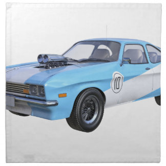 1970's Blue and White Muscle Car Napkin