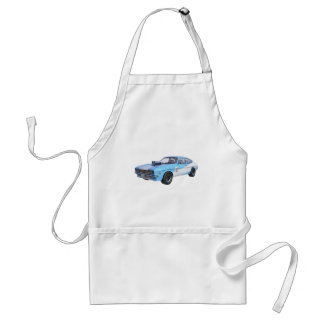 1970's Blue and White Muscle Car Standard Apron