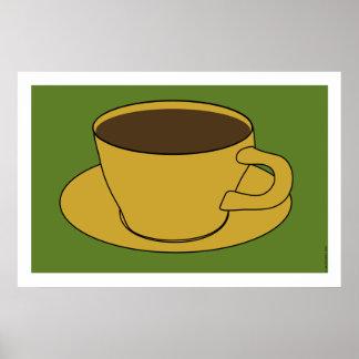 1970's Coffee Cup Pop Art poster