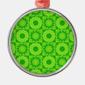 1970s flower power green retro ornaments