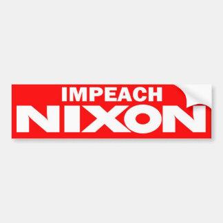 1970s Impeach Nixon Vintage Bumper Sticker Car Bumper Sticker