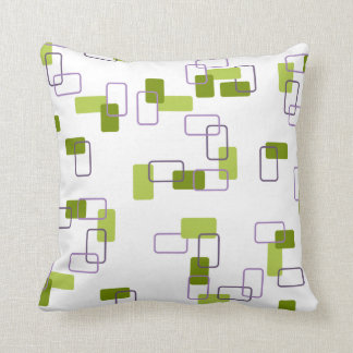 1970's Inspired Retro Geometric Lime Pattern Cushion