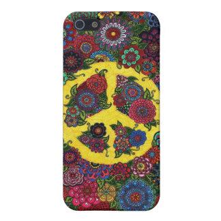1970s Peace Sign Vintage Love Hippy Art iPhone 5 Cases