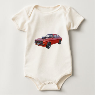 1970's Red Muscle Car Baby Bodysuit