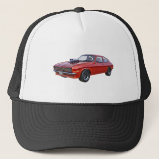1970's Red Muscle Car Trucker Hat