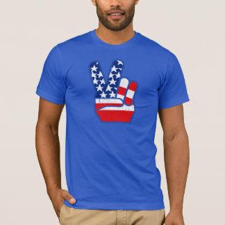 1970s USA Flag Peace Hand T-Shirt