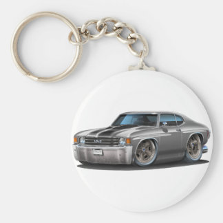 1971-72 Chevelle Grey-Black Car Key Ring