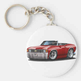 1971-72 Chevelle Maroon Convertible Key Ring