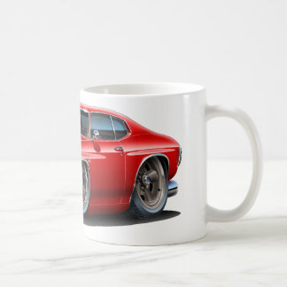 1971-72 Chevelle Red-Black Car Coffee Mug