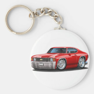 1971-72 Chevelle Red Car Key Ring
