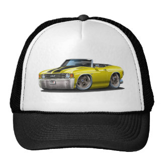 1971-72 Chevelle Yellow-Black Convertible Cap