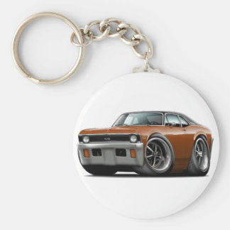 1971-72 Nova Brown-Black Top Key Ring