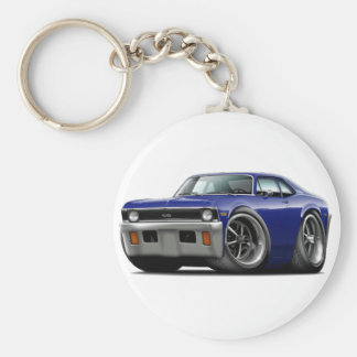 1971-72 Nova Dark Blue Car Key Ring