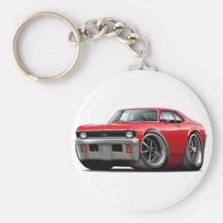 1971-72 Nova Red Car Key Ring