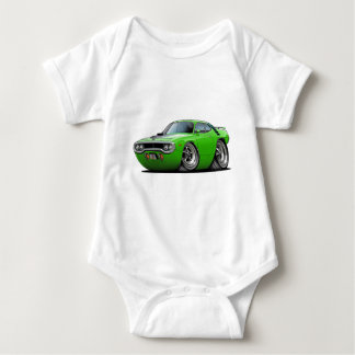 1971-72 Roadrunner Lime-Black Car Baby Bodysuit