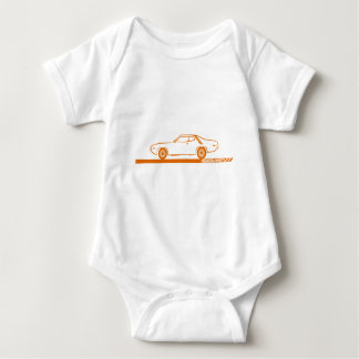1971-72 Roadrunner Orange Car Baby Bodysuit