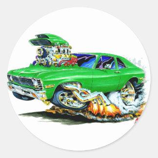 1971-74 Nova Green Car Classic Round Sticker