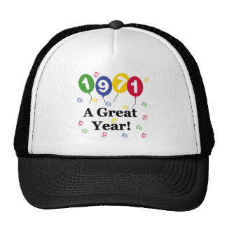 1971 A Great Year Birthday Mesh Hat