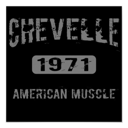 1971 Chevelle American Muscle Poster