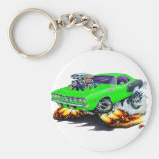 1971 Hemi Cuda Lime Car Basic Round Button Key Ring