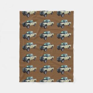 1971 Land Rover Pickup Truck Fleece Blanket