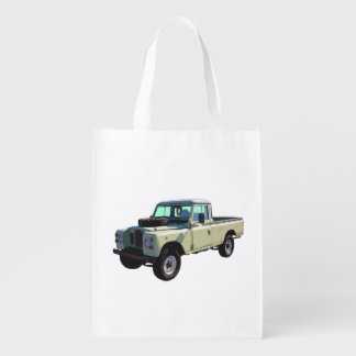 1971 Land Rover Pickup Truck Reusable Grocery Bag