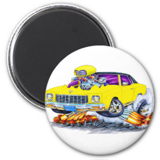 1971 Monte Carlo Yellow Car 6 Cm Round Magnet