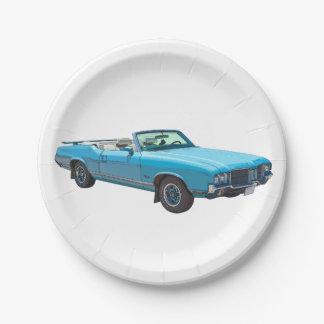 1971 Oldsmobile Cutlass Supreme Muscle Car Paper Plate