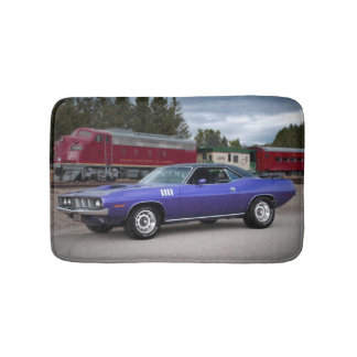 1971 Plymouth Barracuda Cuda Mopar Muscle Car Bath Mat