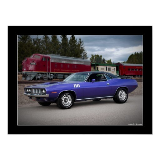 1971 Plymouth Barracuda Cuda Muscle Car Poster